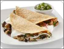 Quesadillas de Champin�n con Queso